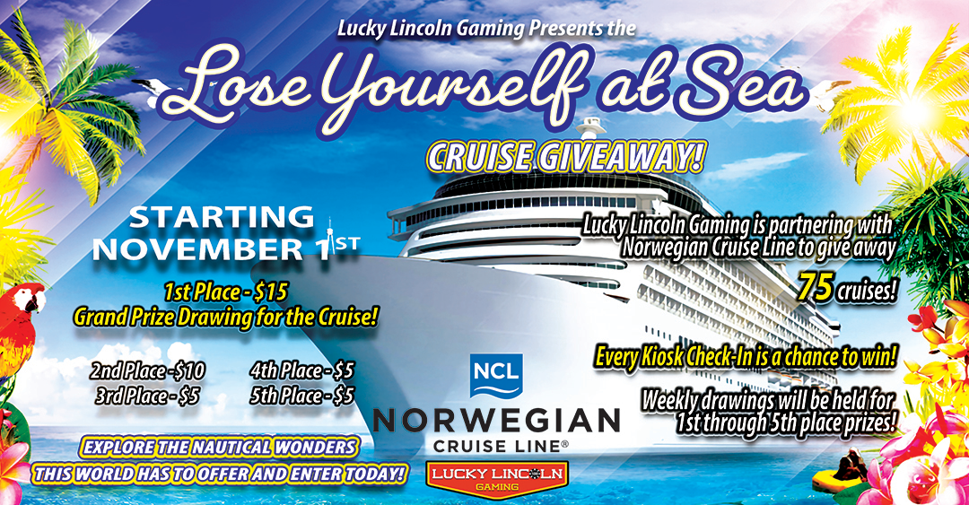 """The """"Lose Yourself at Sea"""" Cruise Giveaway!"""
